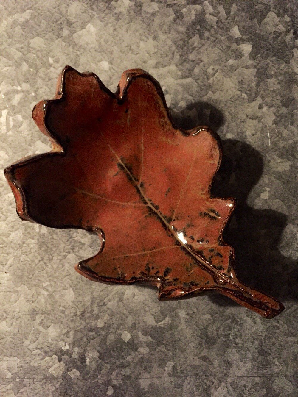 A personal favorite from my Etsy shop https://www.etsy.com/listing/253250391/pottery-oak-leaf-dish-handmade
