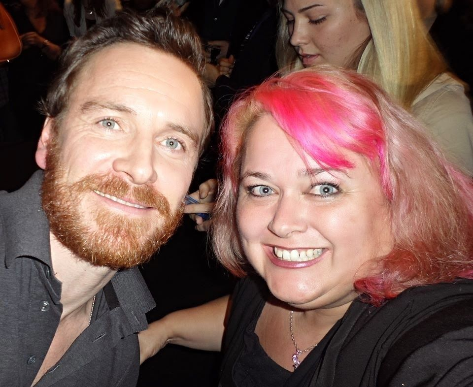 I love his beard here (stunning as usual) But i really like of her smile and pink hair!