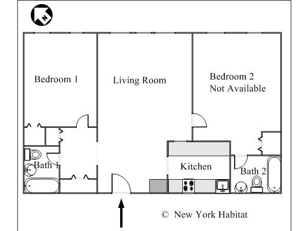 Small Two Bedroom Apartment Floor Plans Google Search Apartment Floor Plans Floor Plans Craftsman Floor Plans