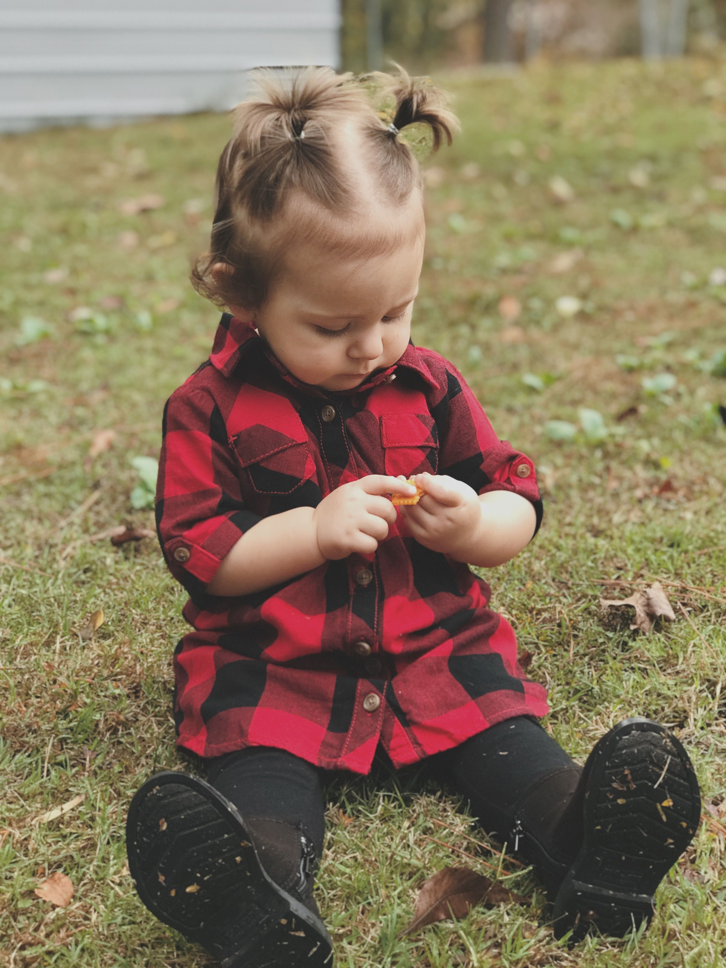 Flannel outfits with leggings  Toddler flannel dress and leggings  u hadley u  Pinterest