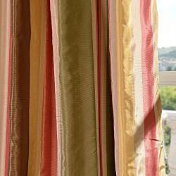 Signature Stripe Mirage Faux Silk Taffeta Curtain Panel French
