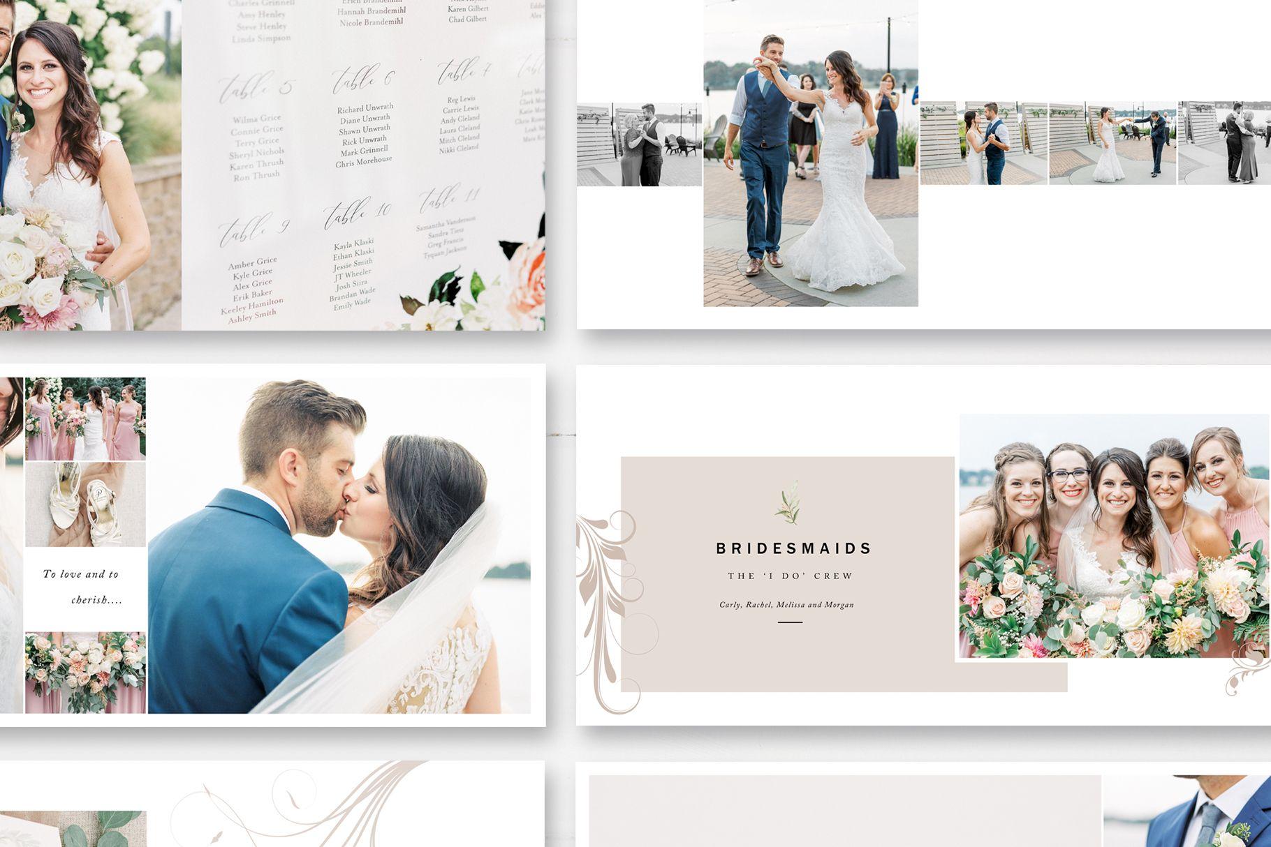 Wedding Photo Album Template The Natural Album By Stephanie Design Wedding Photo Albums Wedding Album Wedding Album Templates