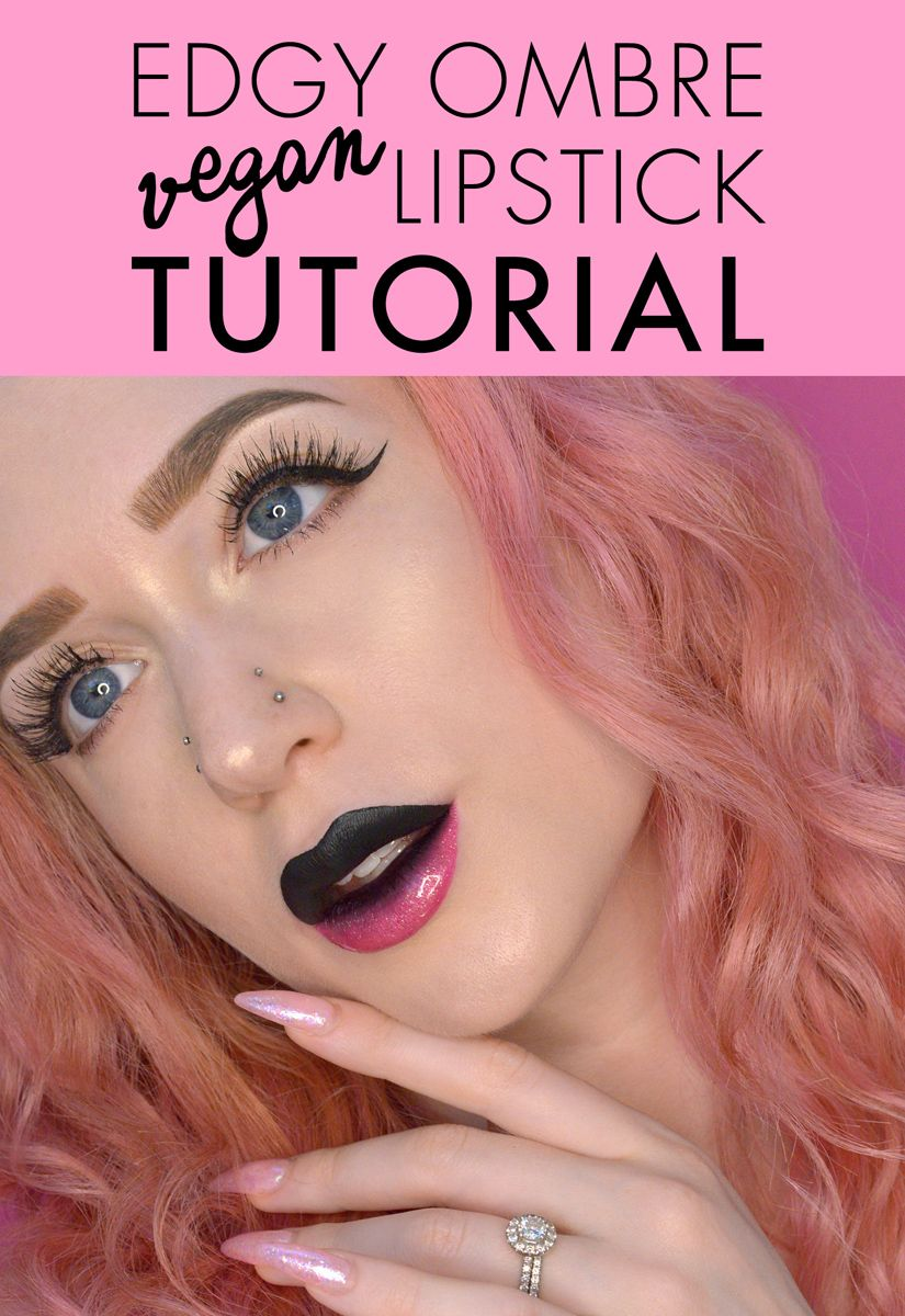 Check out my tutorial on this blacktopink ombre lip