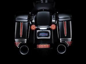 Kuryakyn Spear LED Rear Saddlebag Accents Chrome With Red Lenses Pair- Harley Davidson FL Touring with Hard Saddlebags  1993 -  2015  - 6906