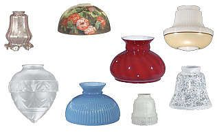 Replacement Glass Lamp Globes And Antique Style Shades