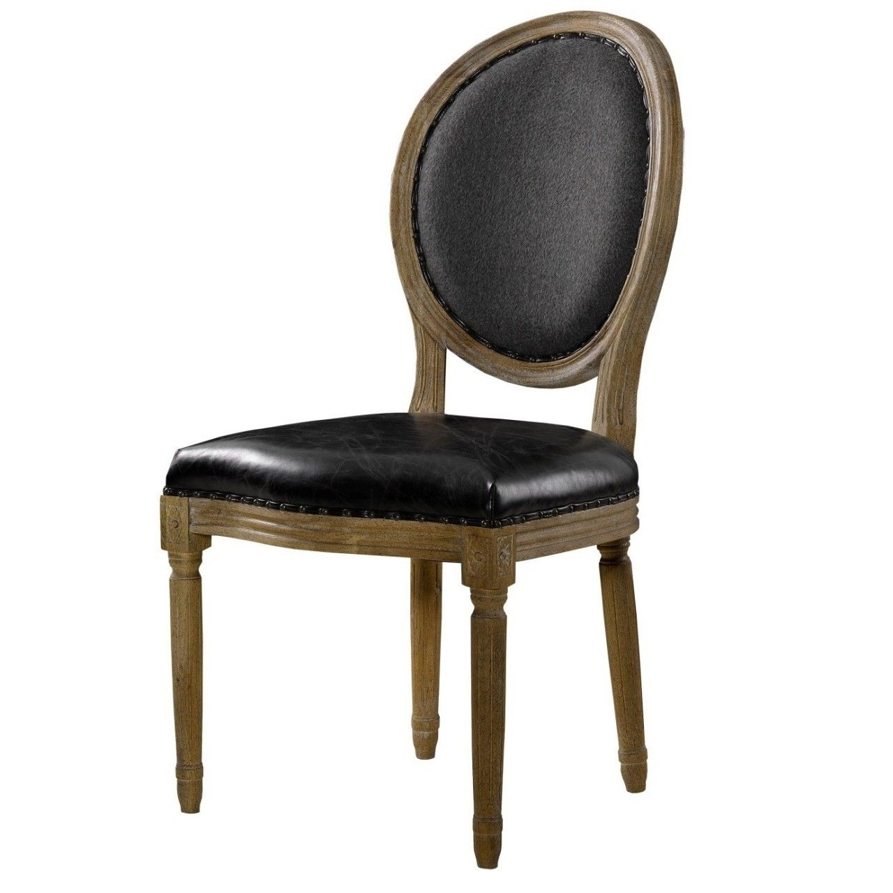 Leder Esszimmerstühle Louis Dining Side Chair In Black Leather Decorate Furnishings