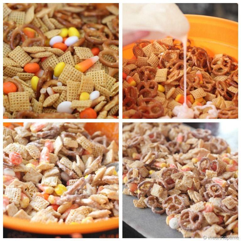 candy corn chex mix... so addicting!!