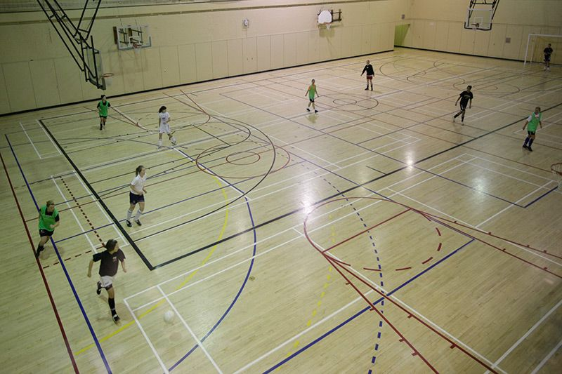 Court With Basketball Volleyball And Pickleball Lines Google Search Basketball Pickleball Court