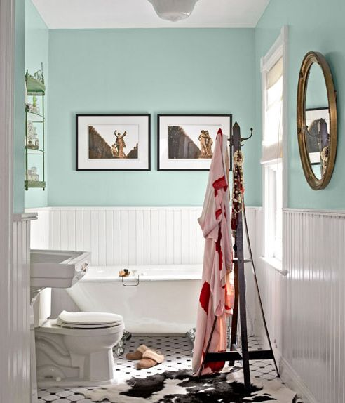 Picture Gallery Website In the right context I like cottage style bathroom design White beadboard wainscoting