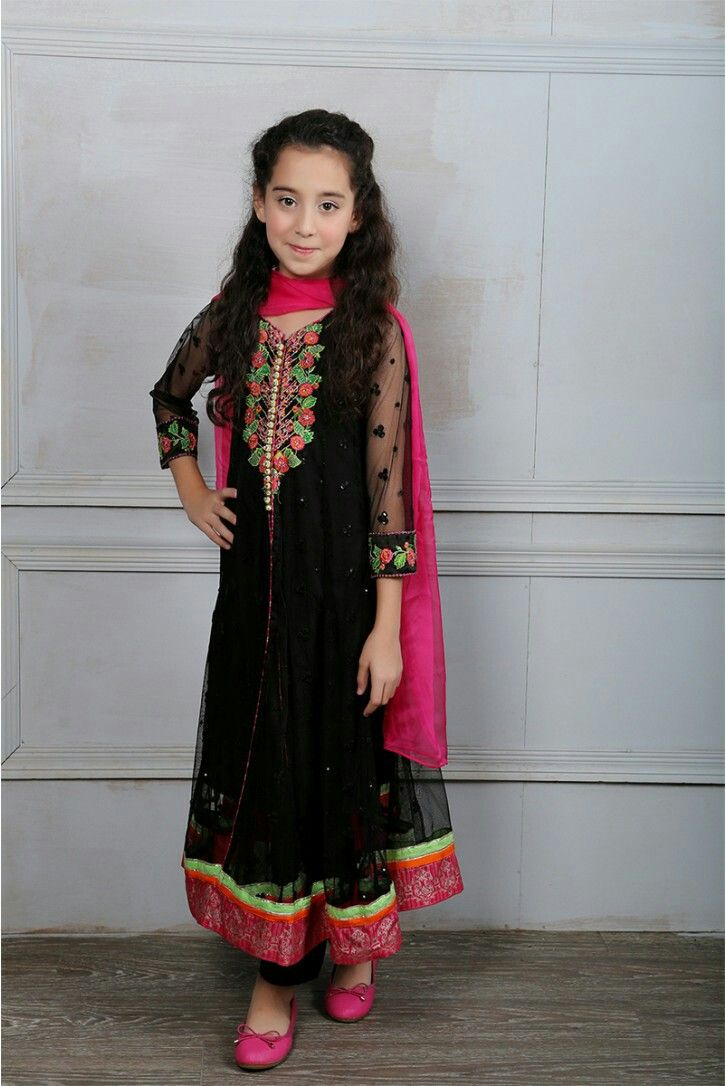 f8f2d412bfe2 Maria.b Eid collection 2016 | Pakistani kids party wear | Dresses ...