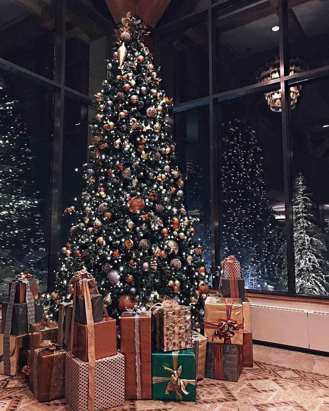 Christmas Spirit On Instagram Do You Open Your Presents On Christmas Eve Or Da Amazing Christmas Trees Christmas Tree Decorations Christmas Decorations