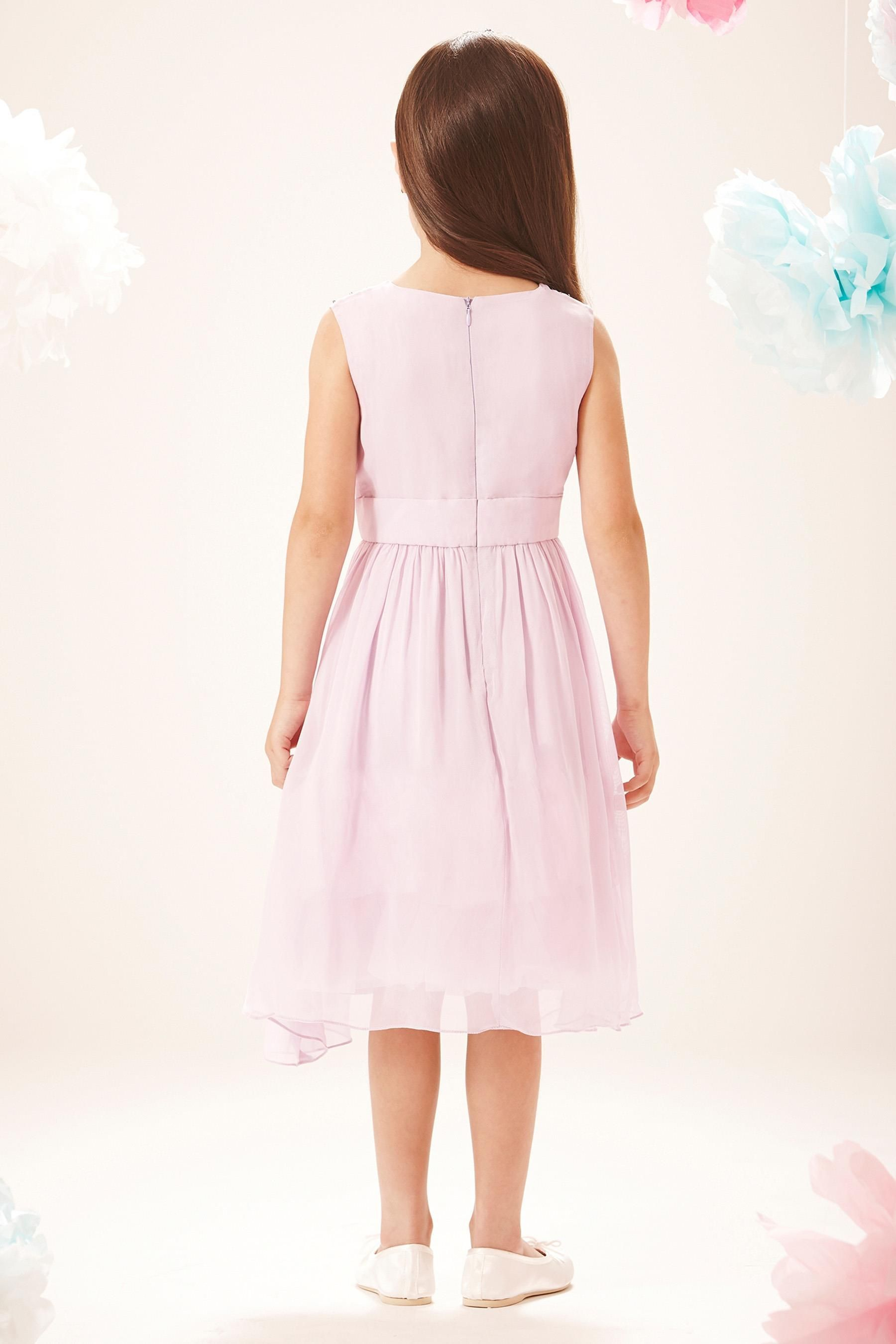 Buy Little Miss Dress Embellished Front Party Dress (5-12yrs) from ...