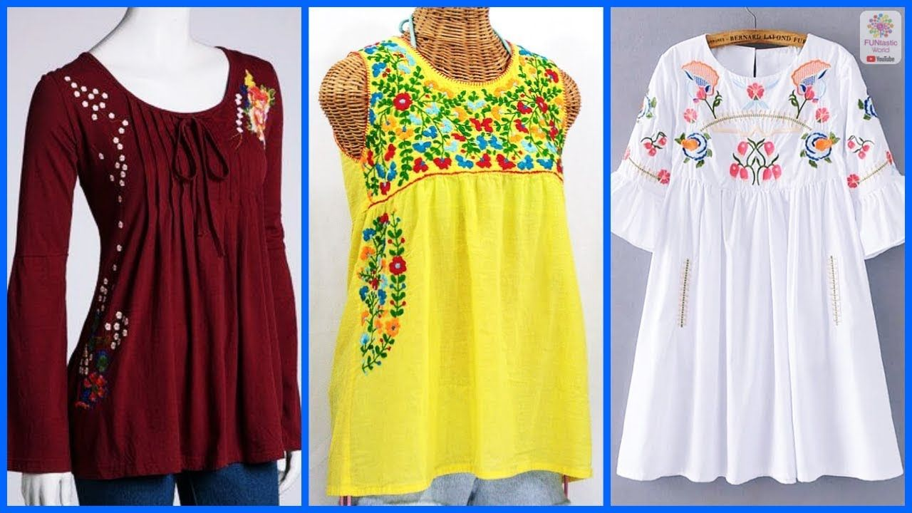 0358e5ff448 Top Beautiful Fancy Tops Designs Images || Latest Summer Shirts for ...