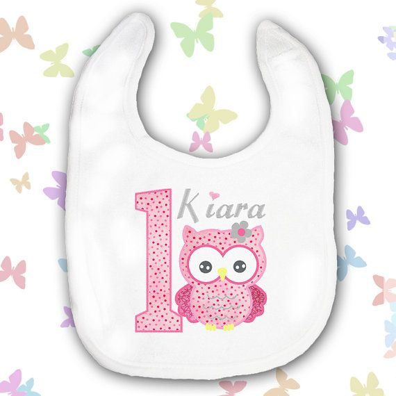 Birthday girl bib Personalised Baby Girls by BabysPreciousGifts