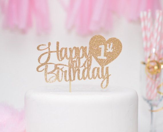 Fantastic Happy 1St Birthday Cake Topper First Birthday Cake Topper With Personalised Birthday Cards Paralily Jamesorg