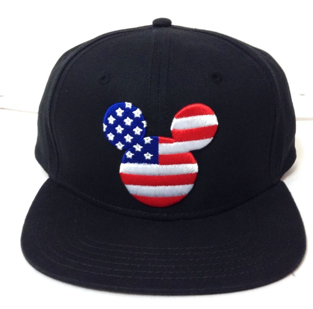 New Mickey Mouse American Flag Snapback Hat Star And Stripe Usa Disney Men Women Disney Men New Mickey Mouse Snapback Hats