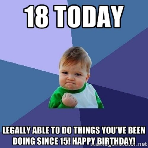 999909f15c7273781296b066a1b5db57 18th happy birthday meme birthday wishes pinterest happy