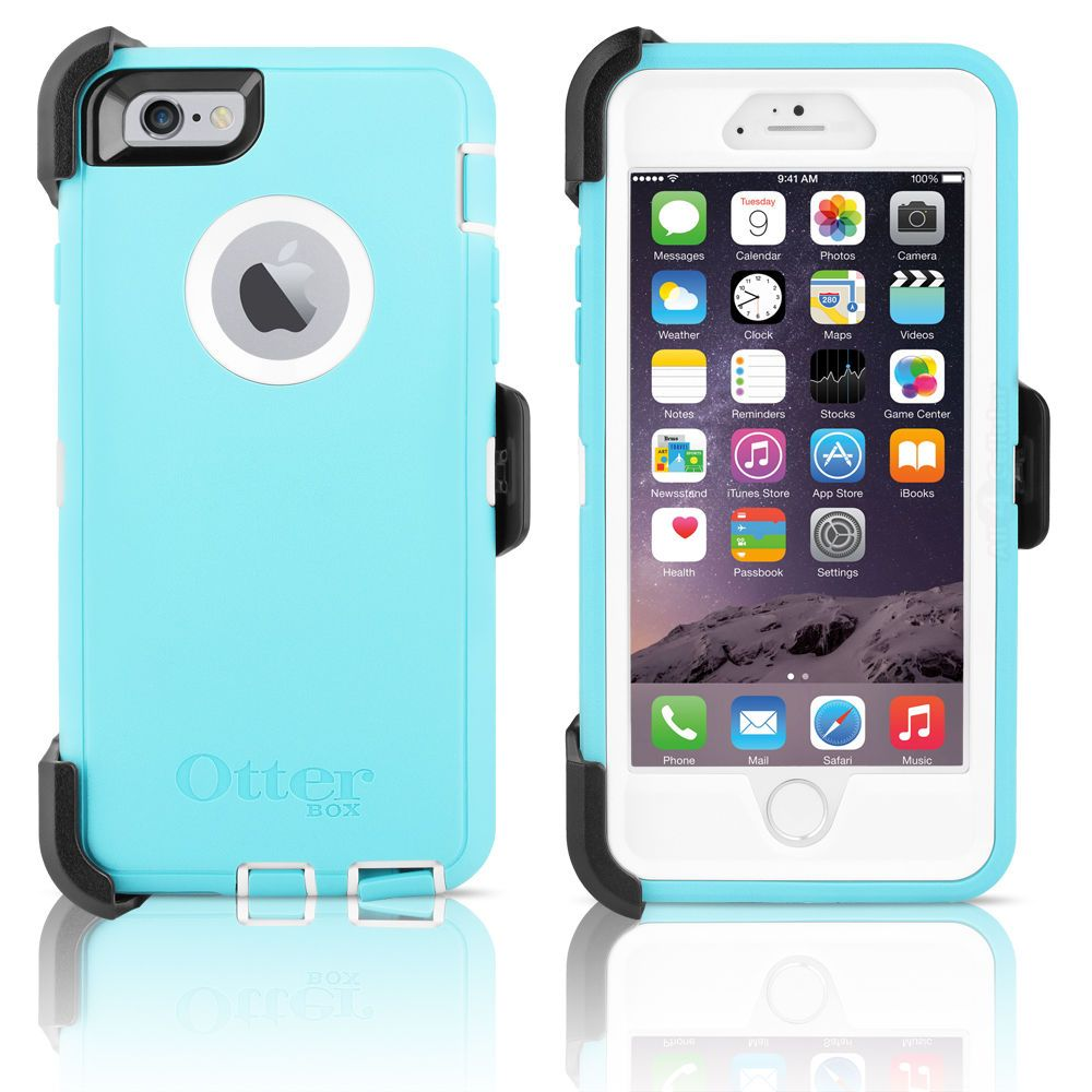 "OtterBox Defender iPhone 6 4 7"" Case & Holster Ocean Mist"