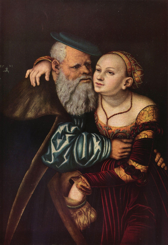 Cranach D A Lucas Der Verliebte Alte Gemeinfrei