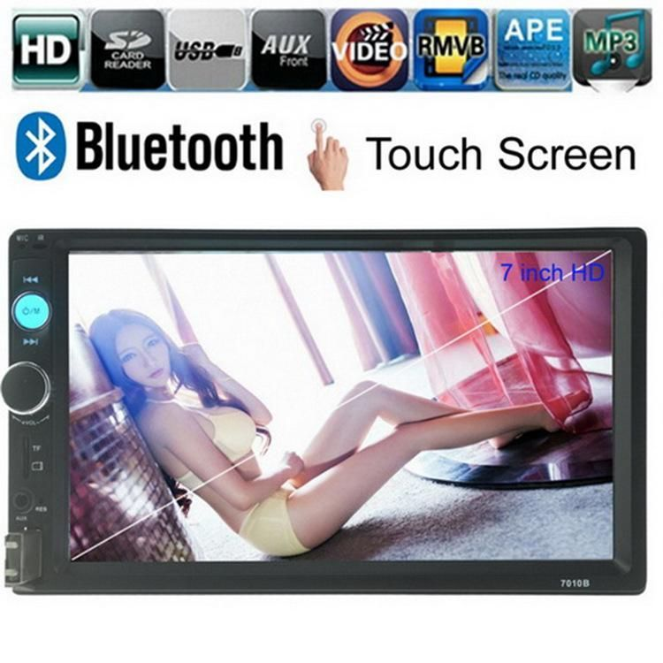 """7/"""" Bluetooth Car Stereo Radio Double 2 DIN HD MP5 FM Player Touch Screen USB TF"""
