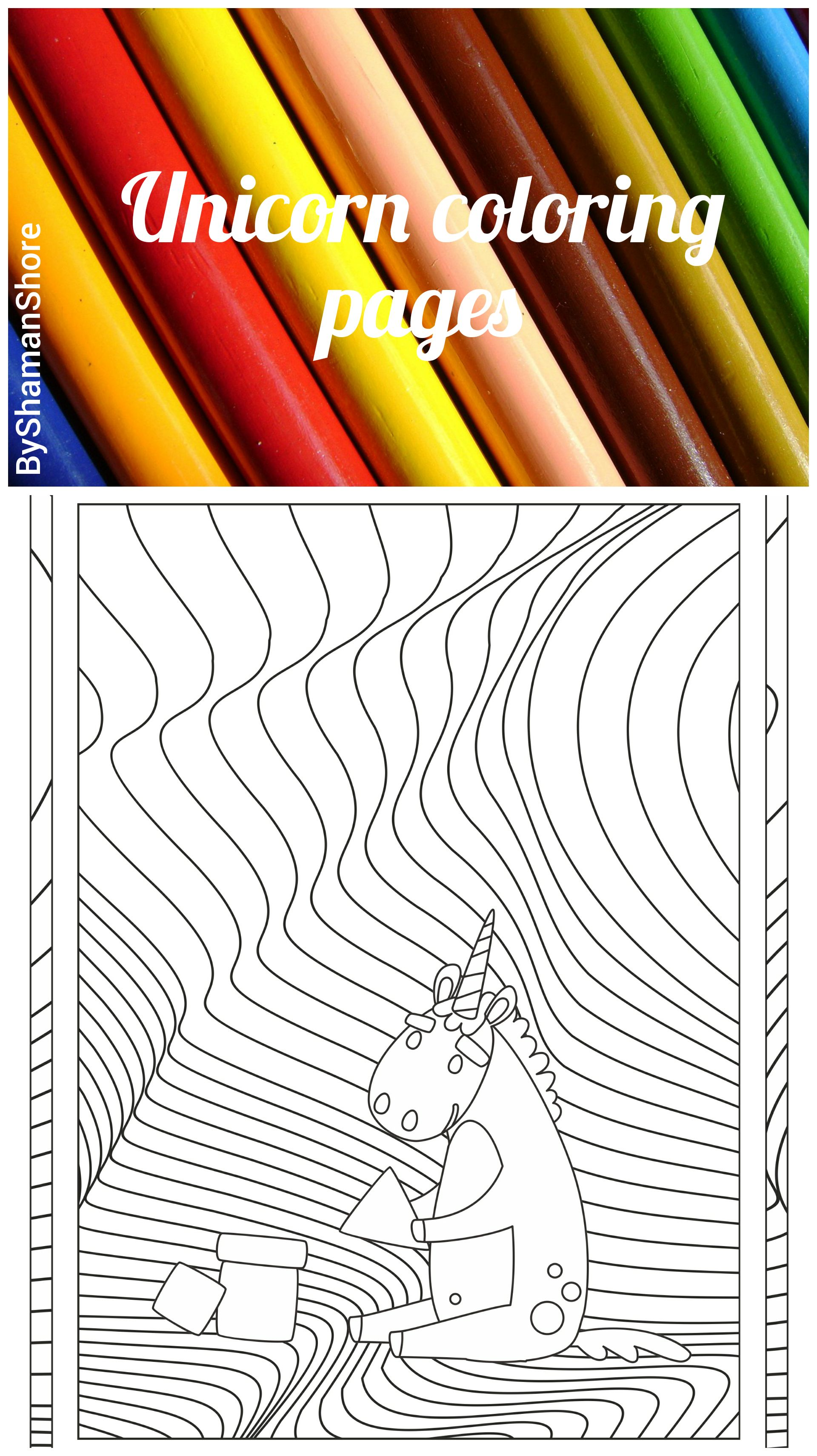 Digital Adult Coloring Book Pdf, 20 Unicorn Adult Coloring Pages ...
