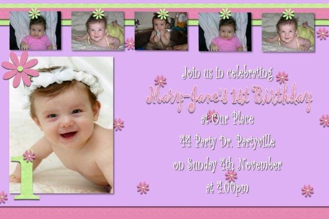 Sample Birthday Invitation Cards