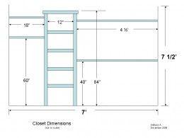 Closet Organizer Diagram Closet Organizer Plans Custom Closet
