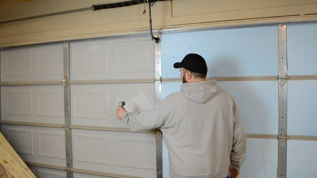 How To Insulate A Garage Door Theydesign With Regard To Insulated