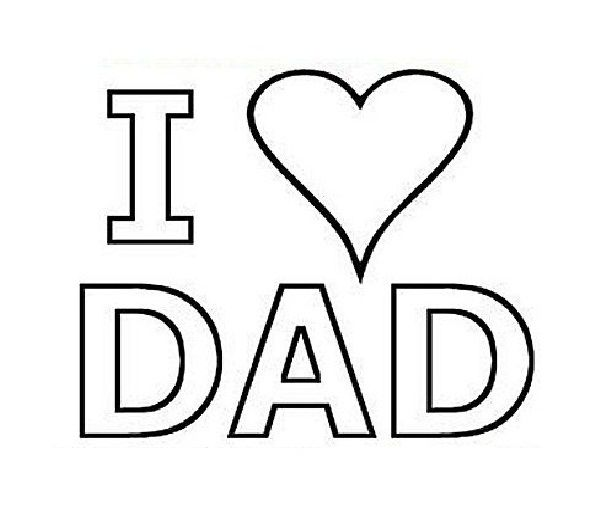 I Love You Dad Coloring Pages In Cards Father S Day Hearts I