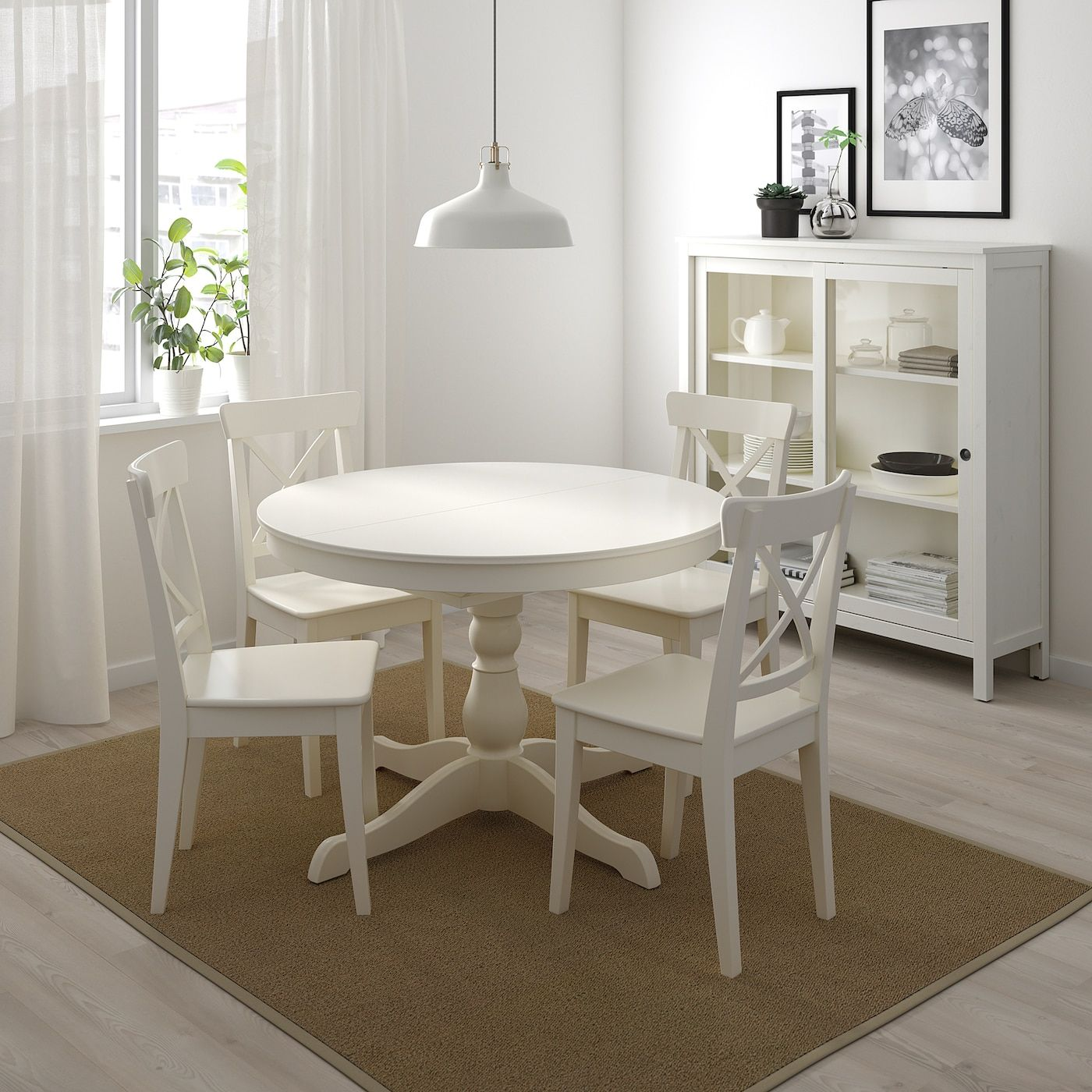 """INGATORP Extendable table white 43 1/4/61 """" in 2020"""