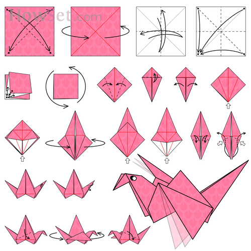 Flapping Bird Animated Origami Instructions How To Make