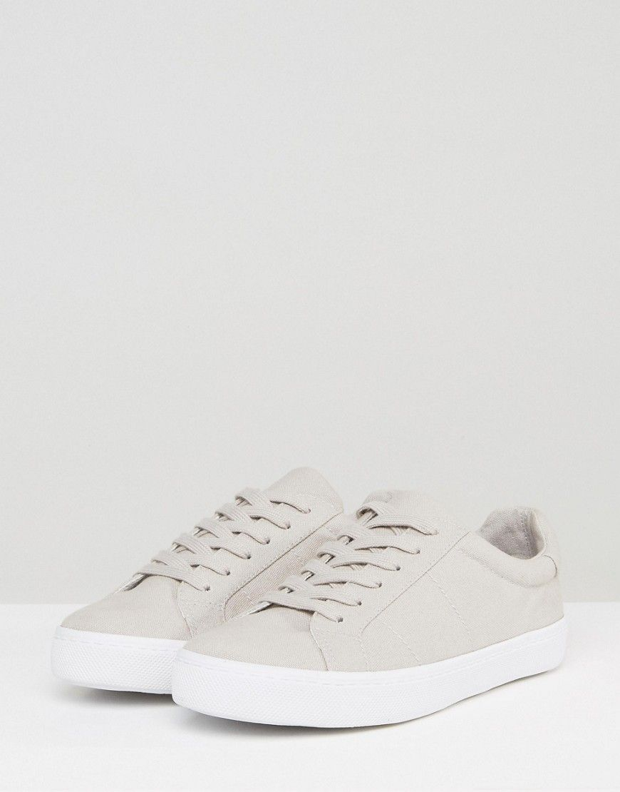 new product 6718f 32f0d ASOS DEVLIN Wide Fit Lace Up Sneakers - Gray