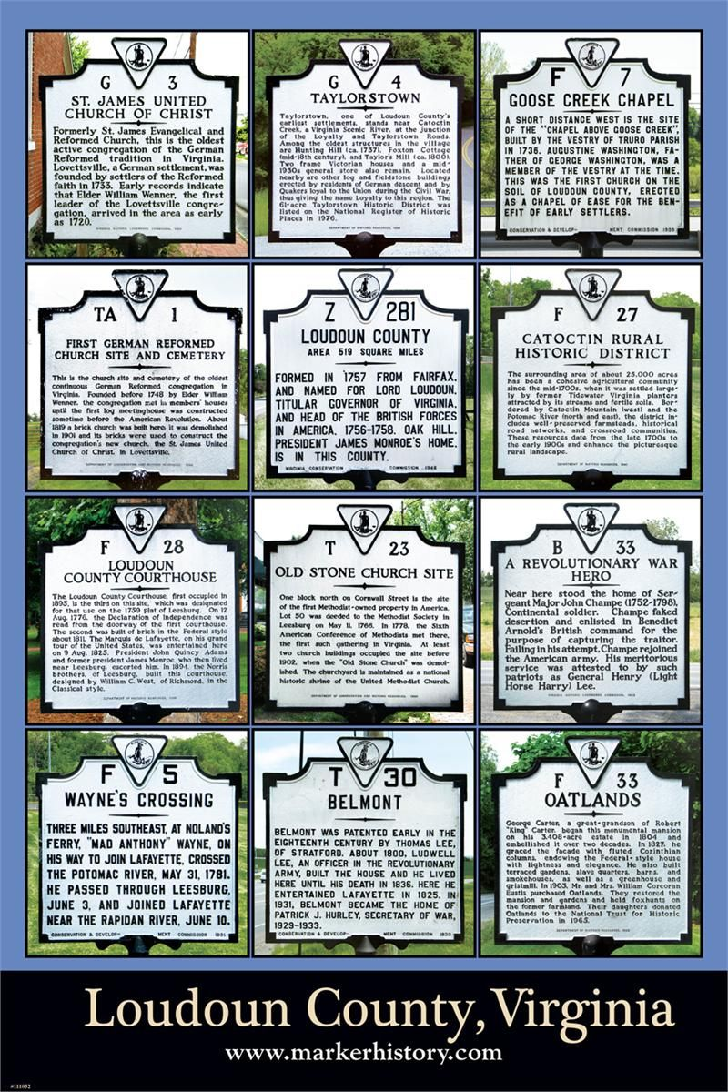 Loudoun County, VA historical markers - so much history in the great state of Virginia!  www.christchurchschool.org
