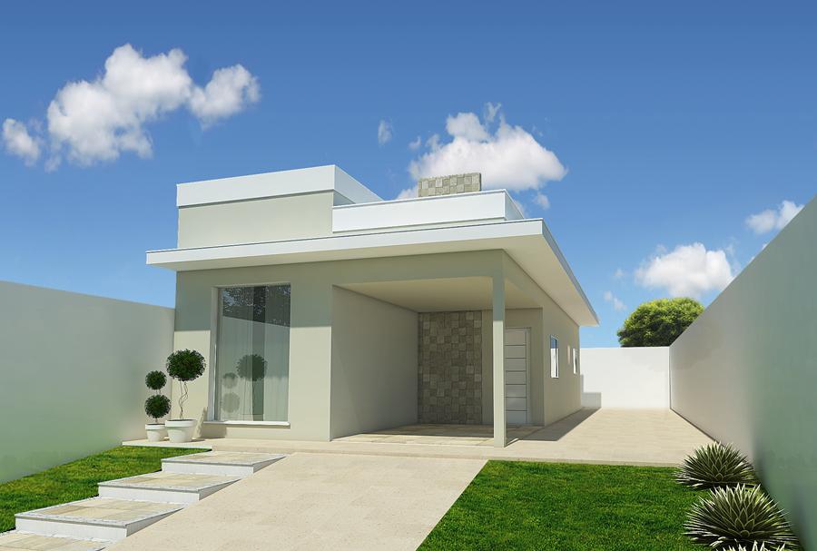 Resultado de imagem para fachadas de casas terreas com for Modelos de fachadas para casas
