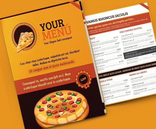Menus Templates Free Free Download Pizza Menu Template  Graphics  Pinterest  Free Menu .