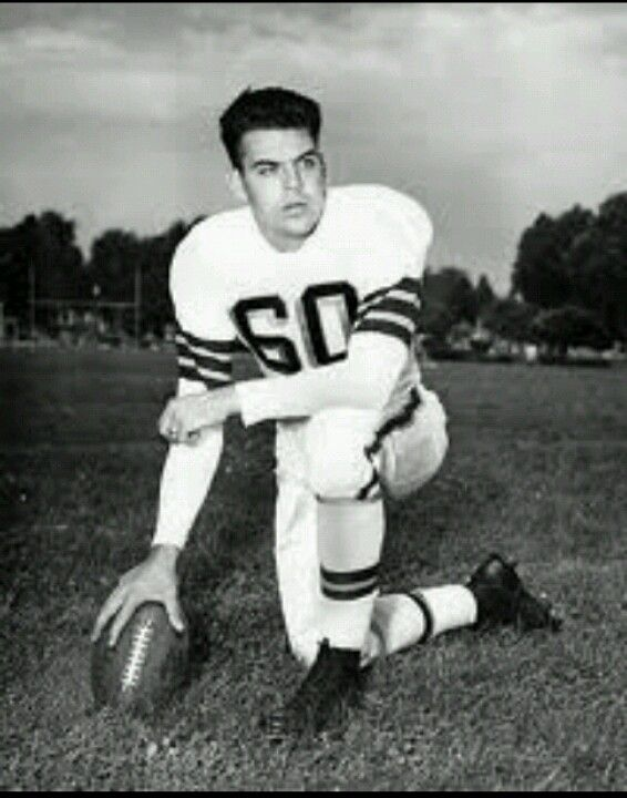 Press photo Otto Graham wearing his first number #60