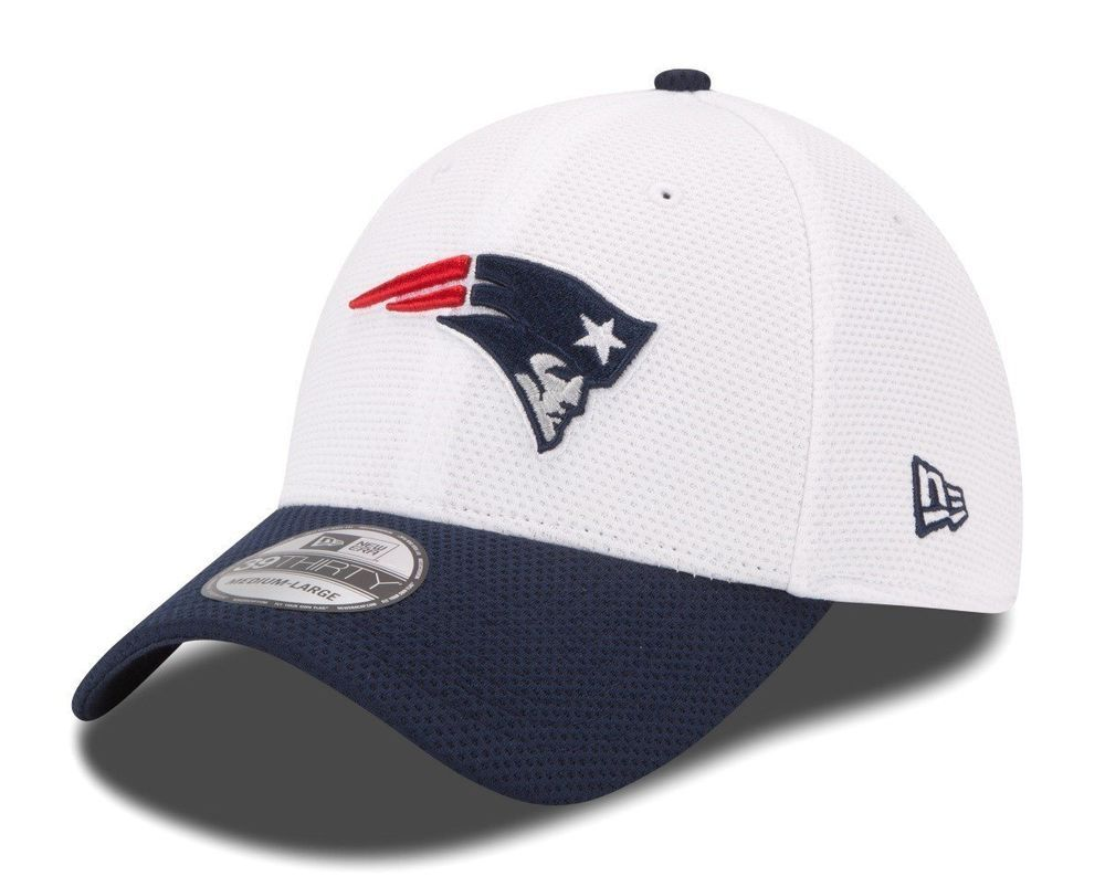 buy online 64da6 caba0 New England Patriots New Era On Field Training Camp 39THIRTY Flex Hat -  White  NEWERA  NewEnglandPatriots