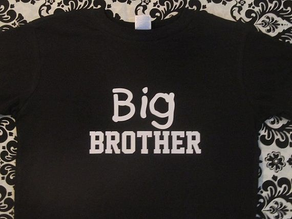big brother sibling new funny black tshirt custom by Ilove2sparkle