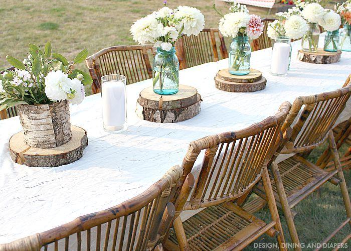Rustic Outdoor Party Rustic Outdoor Parties Outdoor Table Decor