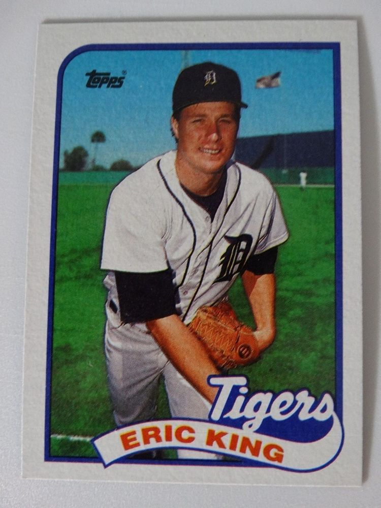 Details About 1989 Topps Eric King Detroit Tigers Wrong Back