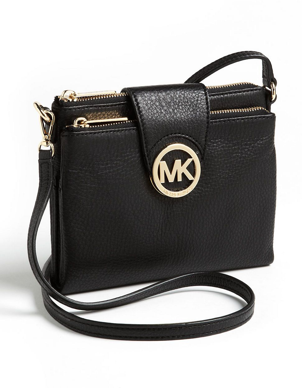 025897702d99 ... Online Store, Larger Discount! Michael Michael Kors Fulton Crossbody Bag  Black
