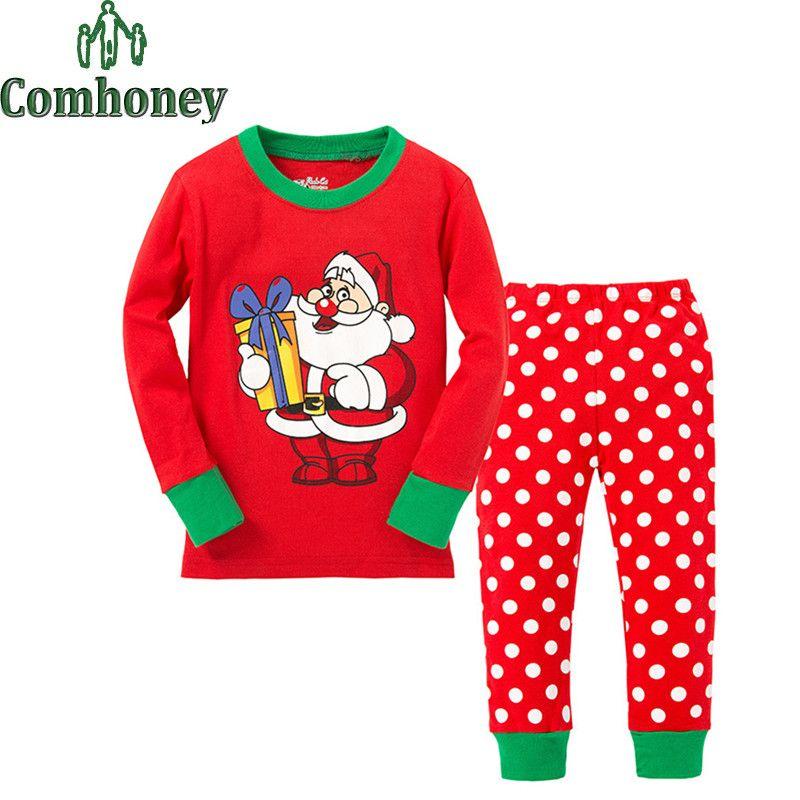 107ad5b5b Christmas Deer Pyjamas Kids Santa Claus Snowman Pajamas for Boys ...