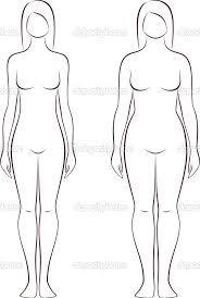 Resultado De Imagen Para Plantilla De Silueta Humana Femenina 8 Cabezas Plantilla De Cuerpo Silueta Humana Cuerpo Humano