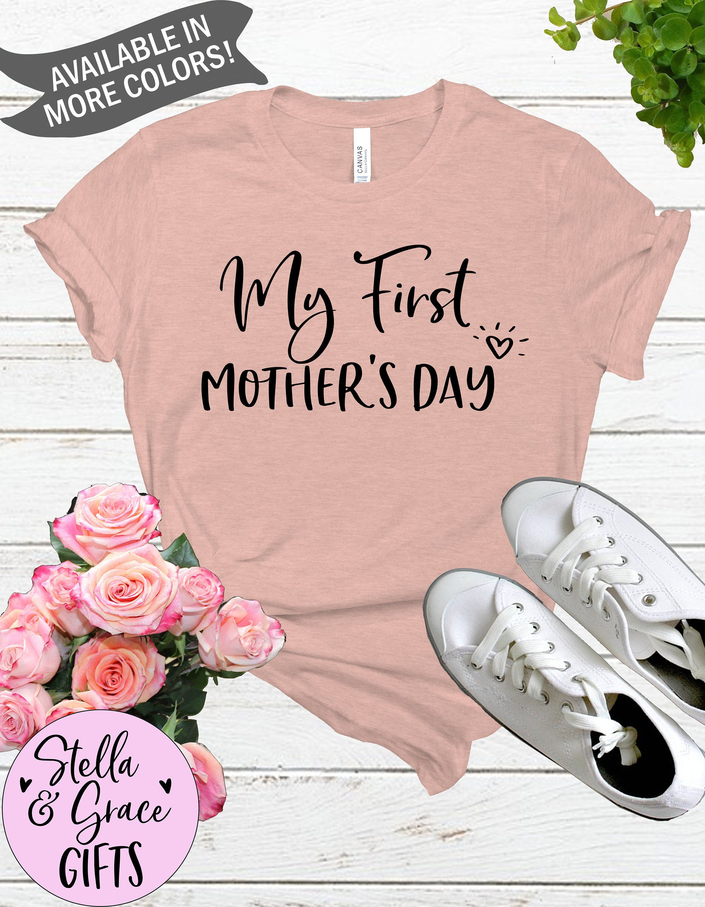 45118d95852bb My First Mother's Day Shirt - Pregnancy Announcement Shirt - Mom to be Tee  - Shirt