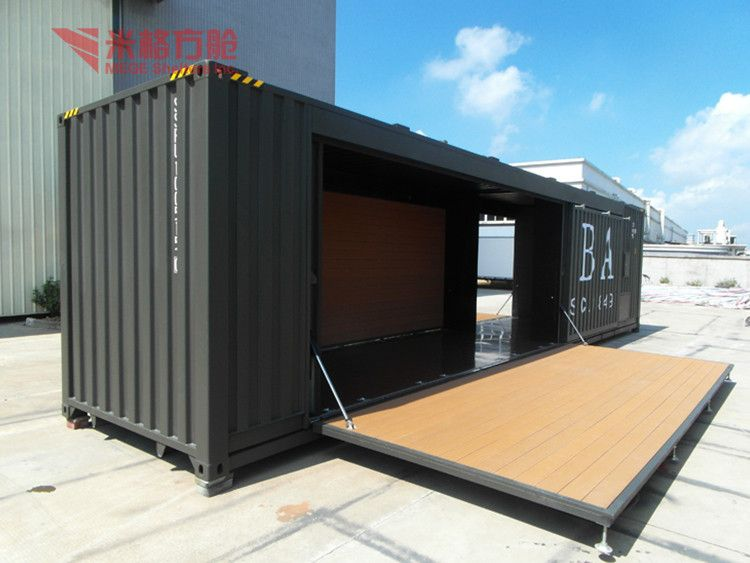 Sam Container Cafe With Hydraulic View Container Cafe Megeshelters Product Details From Mege Shelt Container Cafe Shipping Container Workshop Cafe Bar Design
