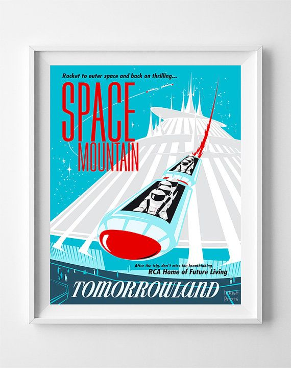 Disneyland Poster Monorail System Attraction Print Tomorrowland UNFRAMED