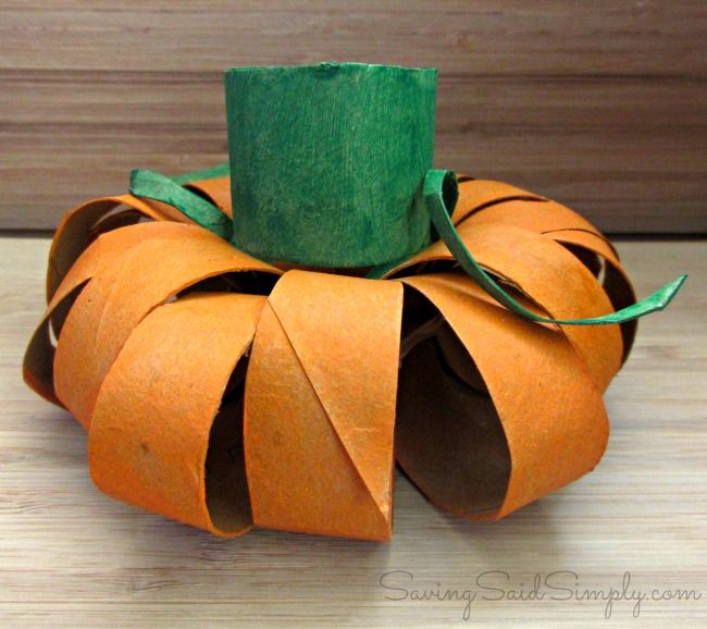 Halloween Kids Craft Toilet Paper Roll Pumpkin