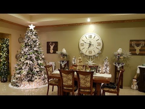 Christmas Winter Wonderland Home Tour 2017 Rebecca