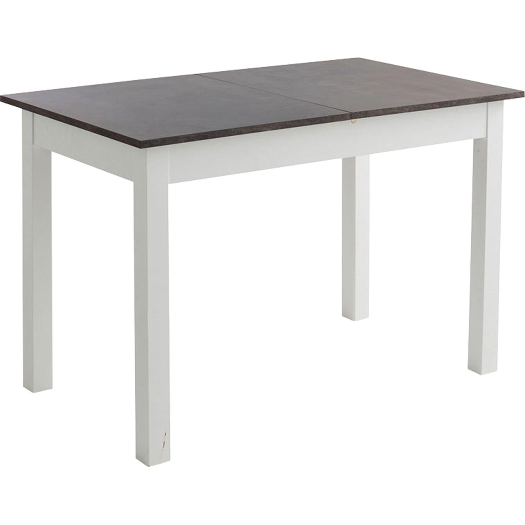table de repas extensible effet bton l120 160cm 4 8 convives yvon meubles salle manger et cuisine table extensible rallonge dcoration