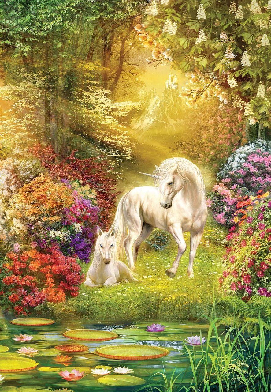 Enchanted Garden Unicorns - 500pc Jigsaw Puzzle by Sunsout